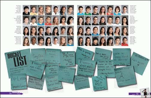 Maybe this could be a pg for the yearbook staff. It could ...   Yearbook Categories Pages Showing