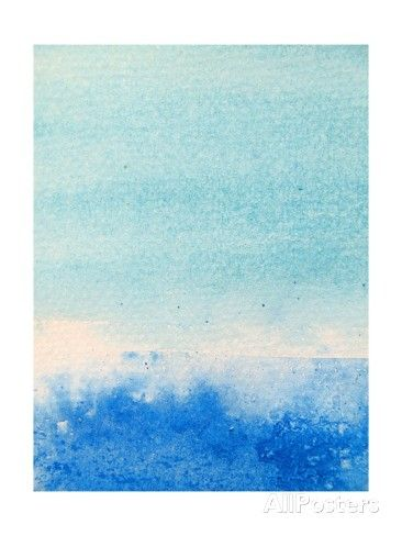 Light And Dark Blue Watercolor Background 2 Kunstdruck Art