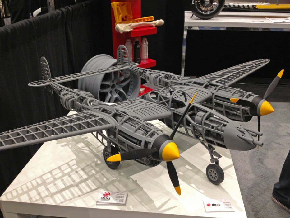 P38 Airframe 3d printing art, 3d printing projects, 3d