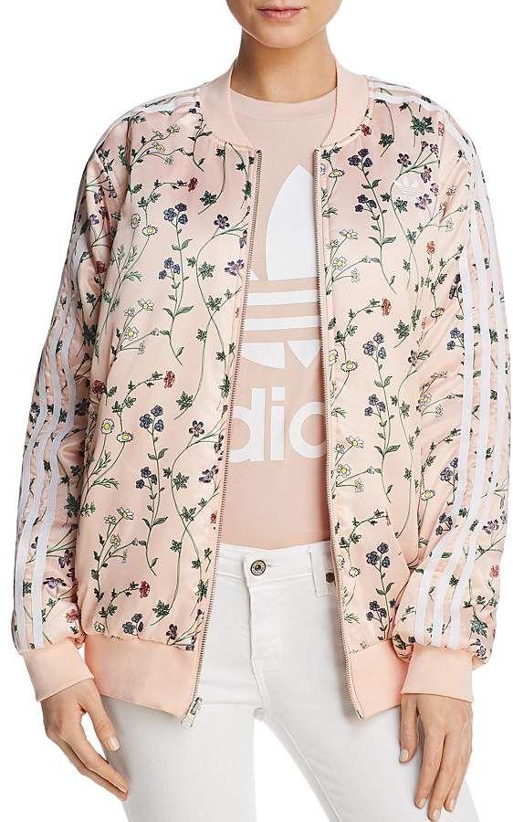 Adidas Originals chaqueta bomber reversible floral print mujeres