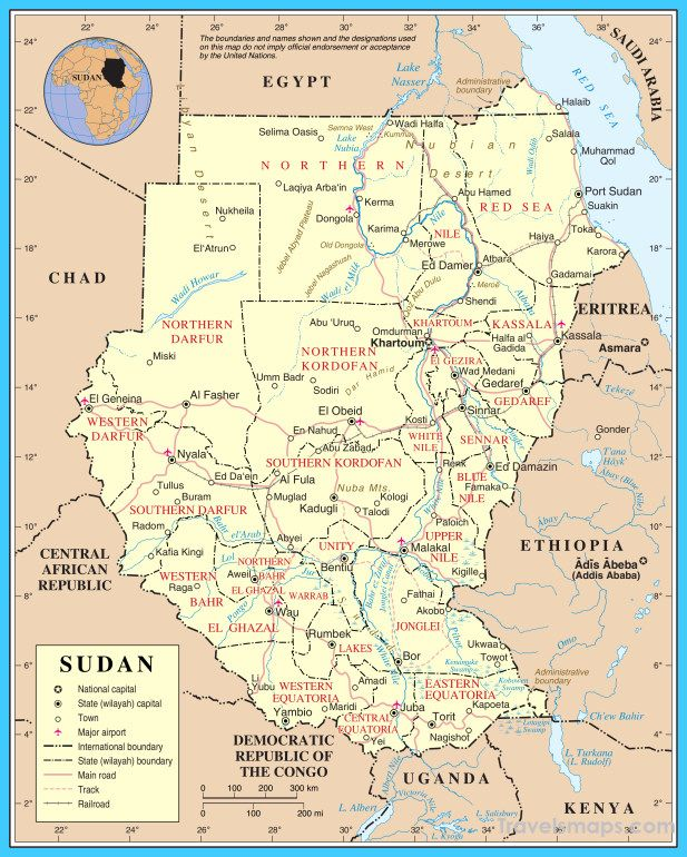 nice Map of Sudan Travelsmaps