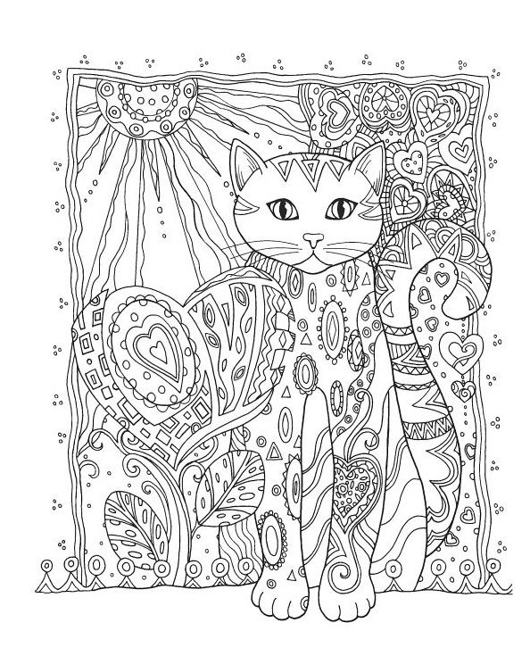 download cat coloring pages for adults http procoloring com cat