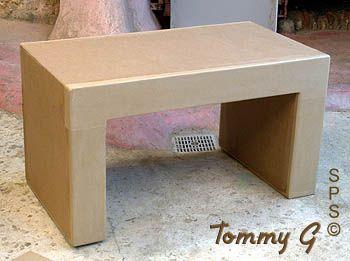 petite table rectiligne | cartonería y muebles de cartón