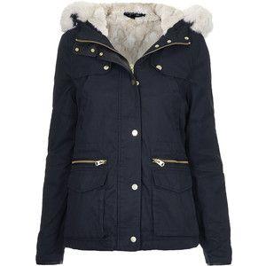 TOPSHOP PETITE Faux Fur Trim Borg Lined Parka Jacket | S T Y L E ...