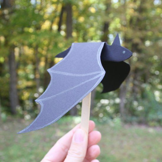 Use Our Template To Create A Paper Bat Whose Wings Flap As You