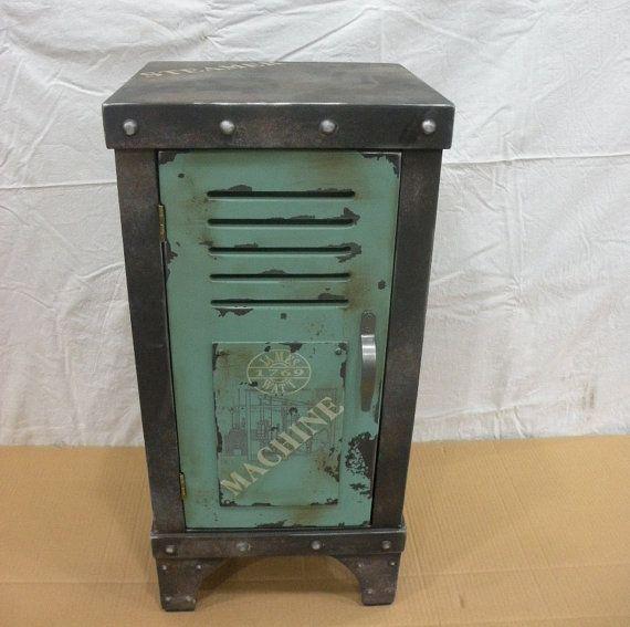 vintage industrial storage box case cabinet mid by UFurniture, $109.00