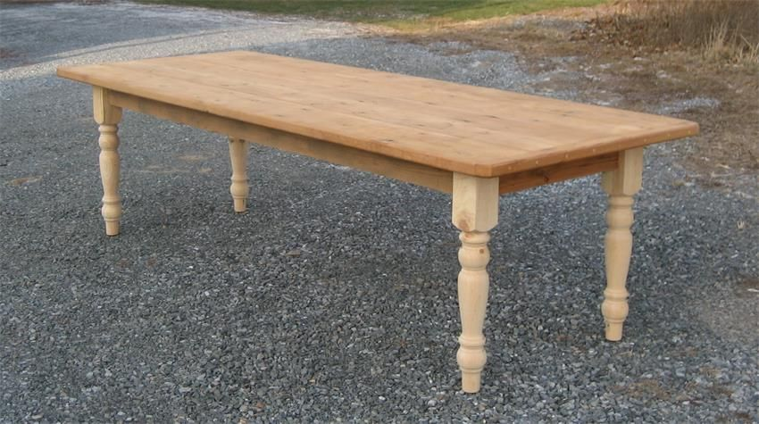 Amish Barn Wood Farmhouse Table with Breadboard Ends
