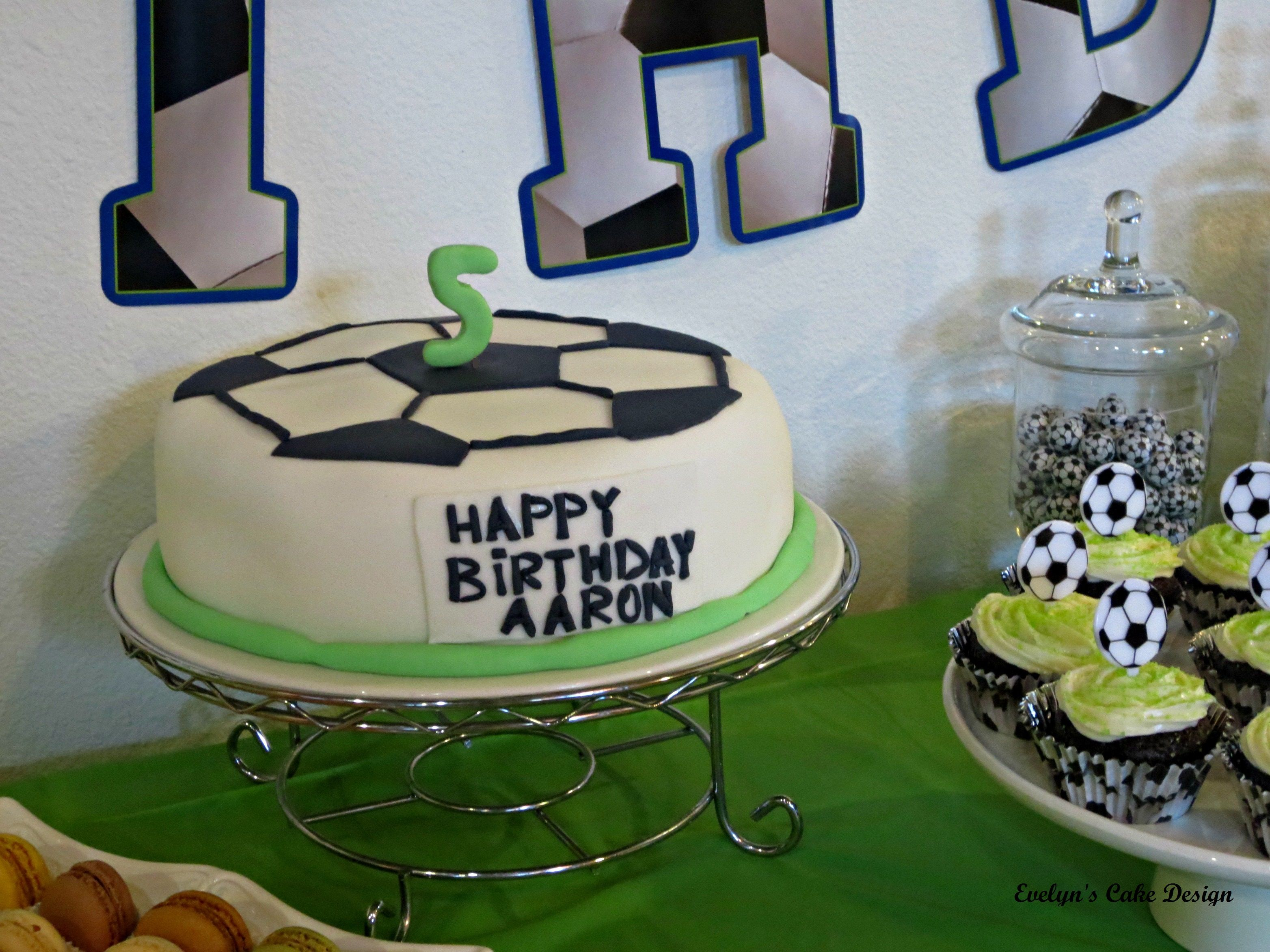 closer look at my soccer themed birthday cake evelyn s cake design