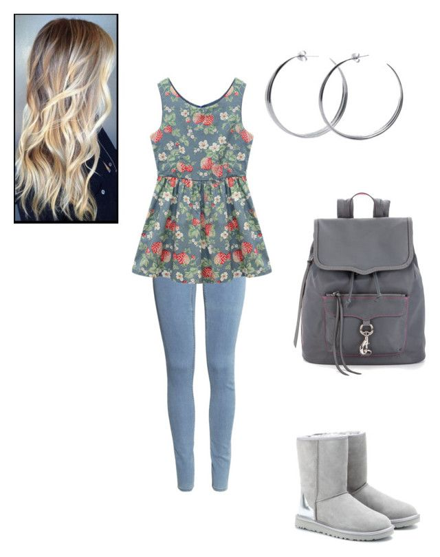 """Simple day :#3"" by thundermms ❤ liked on Polyvore featuring H&M, Chicnova Fashion, UGG Australia, Rebecca Minkoff, Coco's Liberty, women's clothing, women, female, woman and misses"