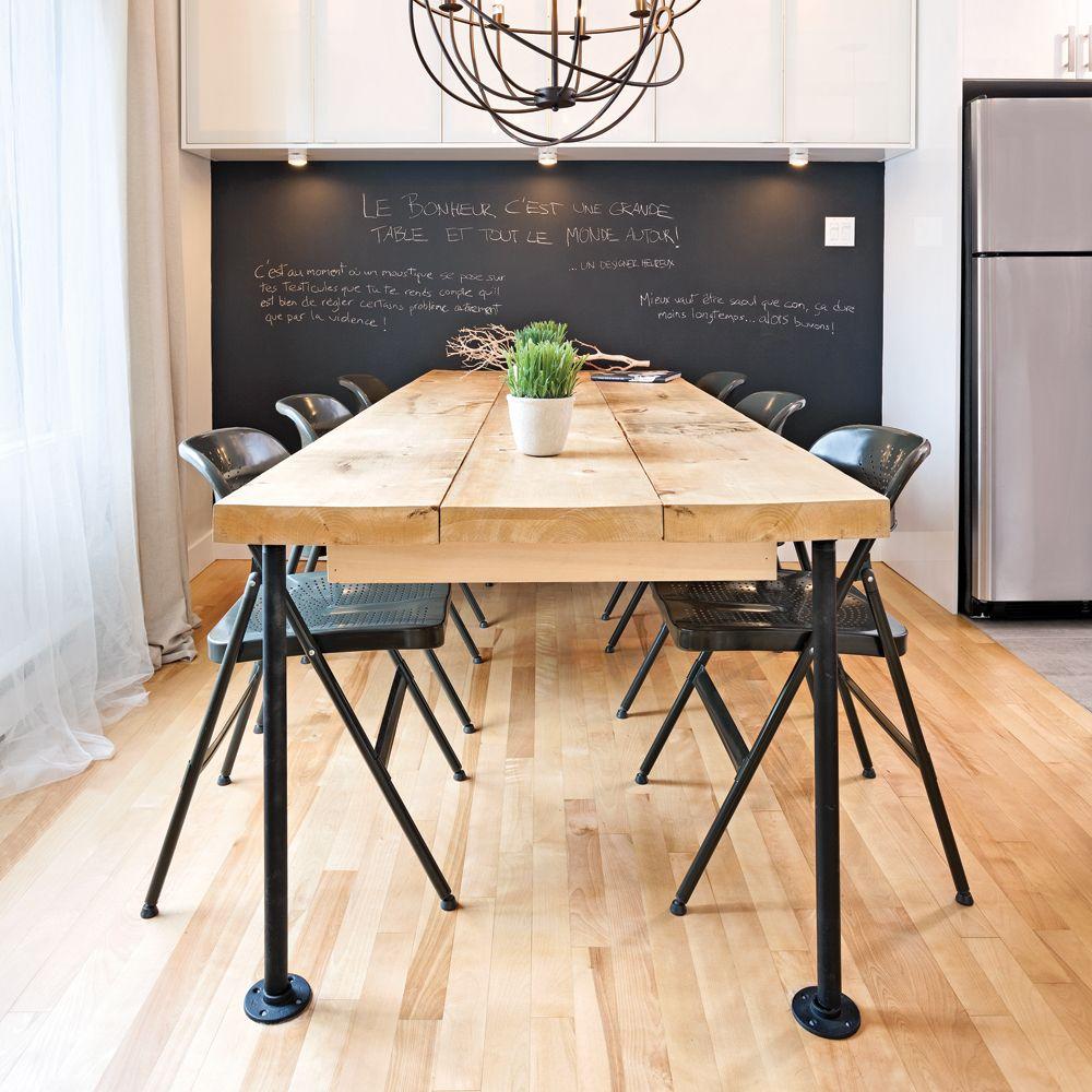 en tapes une table de style industriel brico diner. Black Bedroom Furniture Sets. Home Design Ideas