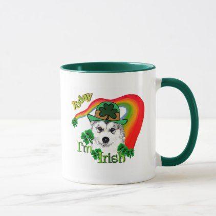 Siberian Husky St Patrick s Mug st patricks day ts Saint