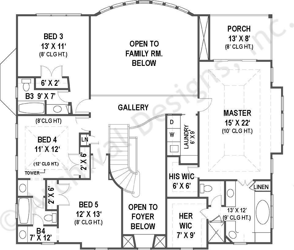 Villa Royale House Plan House Floor Plans Floor Plan Design Unique House Plans