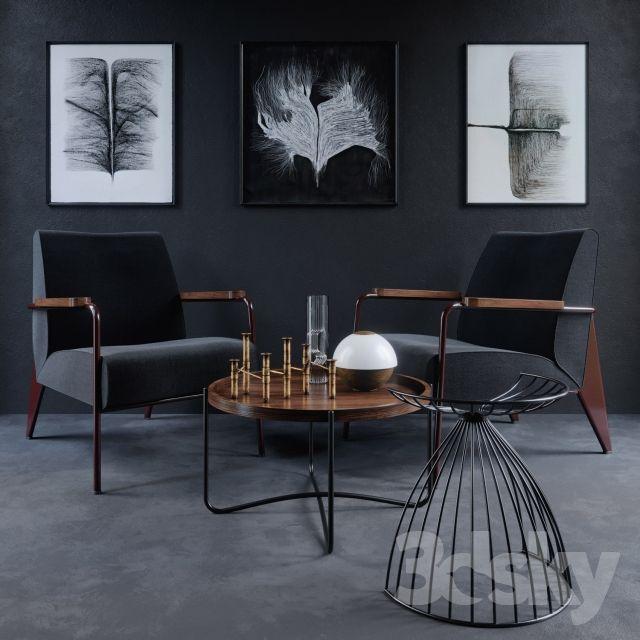 Vitra Chair Fauteuil de Salon furniture 3d pay