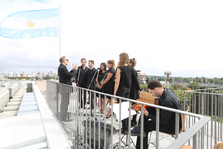 Bruno Emmer y Rodrigo Muro RDR Arquitectos Cora Burgin Grupo Landscape y Ernesto Schargrodsky Inauguraci³n 4 ° piso y Terraza Verde