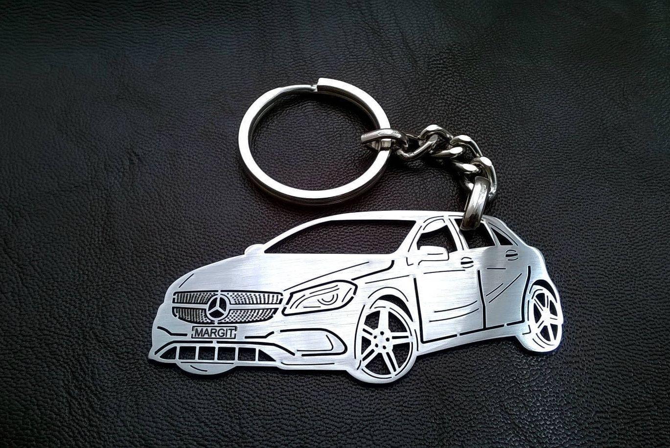 Mercedes w176 keychain mercedes a class keychain mercedes a class personalized key chain