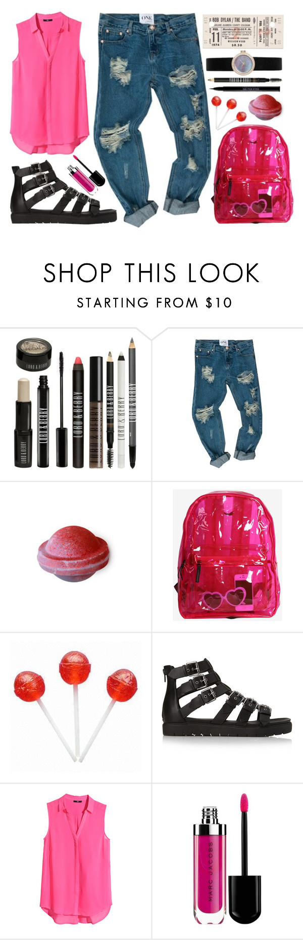 """""""Ciara"""" by allfashioon ❤ liked on Polyvore featuring Lord & Berry, OneTeaspoon, Forever 21, H&M, Urban Decay, topsets, Pink, lovely, WhatToWear and polyvoreeditorial"""