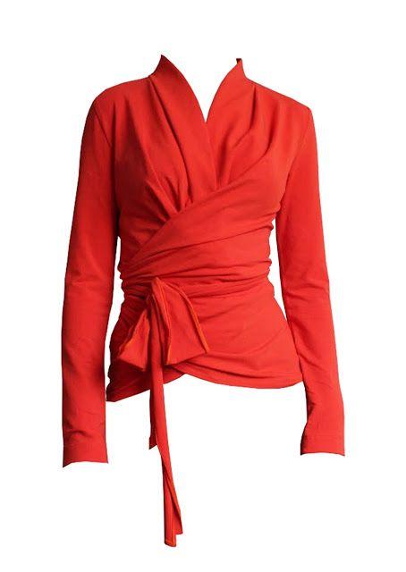Wickeloberteil, Wickel Top nähen - Lucretia Wrap Dress, 42 (34-36 ...