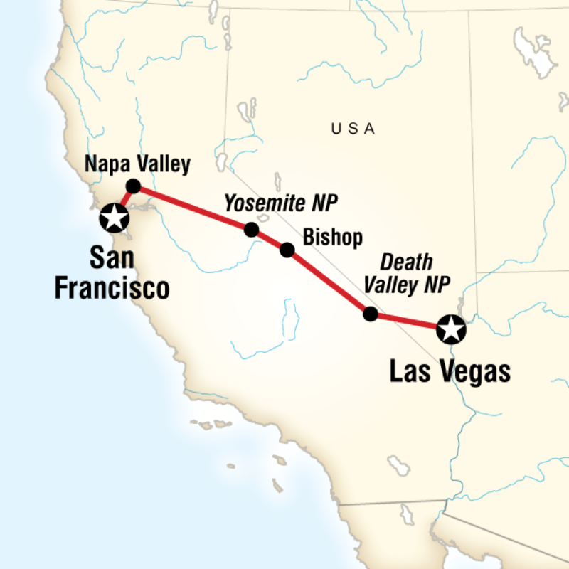 Map Of The Route For Travel Pinterest West Coast Road Trip: Map San Francisco And Napa At Usa Maps