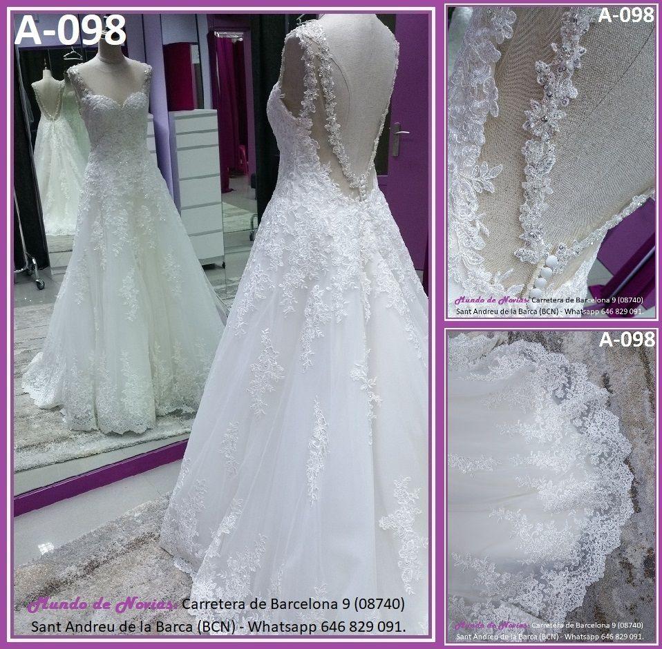 Elegante y original Vestido de Novia Princesa con escote corazón y ...