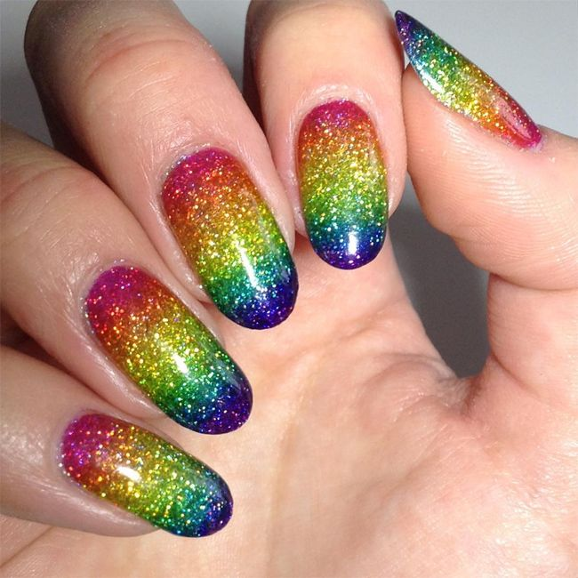 Here, in our today nail art post we have collected most beautiful rainbow  nail art - Here, In Our Today Nail Art Post We Have Collected Most Beautiful