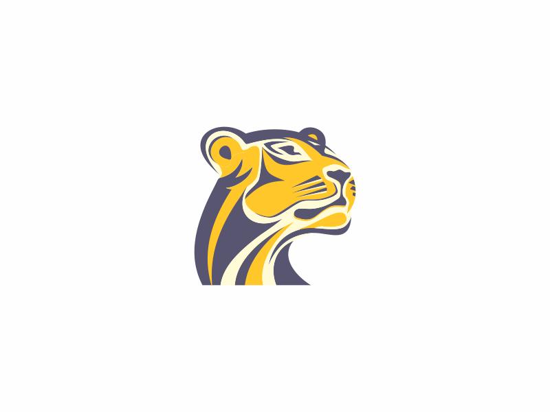 Lioness Lioness Ilustration Art Logo Concept