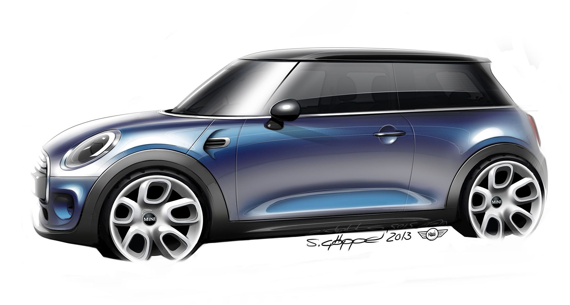 The new mini design sketch car design sketching - Croquis voiture ...