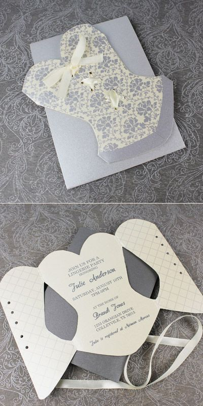 Corset Bachelorette Invitation DIY \ other great ideas - bachelorette invitation template