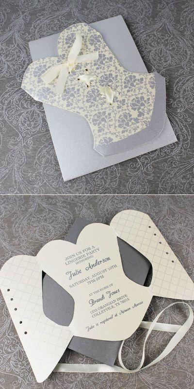 Corset Bachelorette Invitation DIY \ other great ideas - bachelorette invitation template