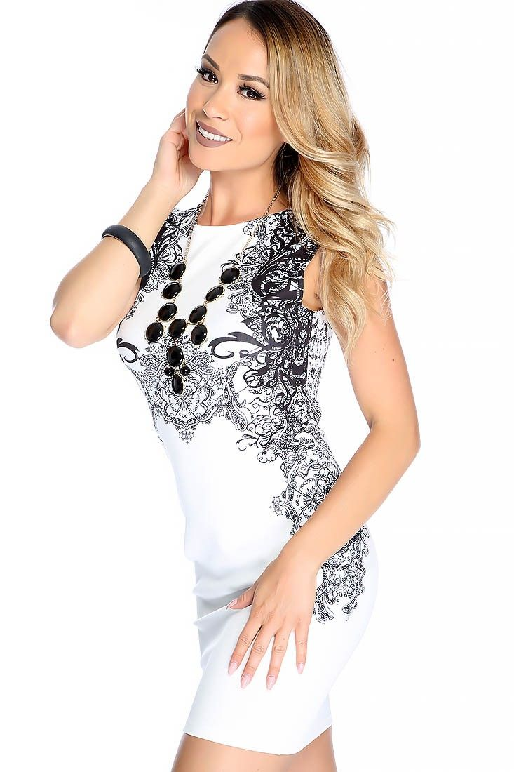 Sexy white two toned bodycon dress pinterest bodycon dress and