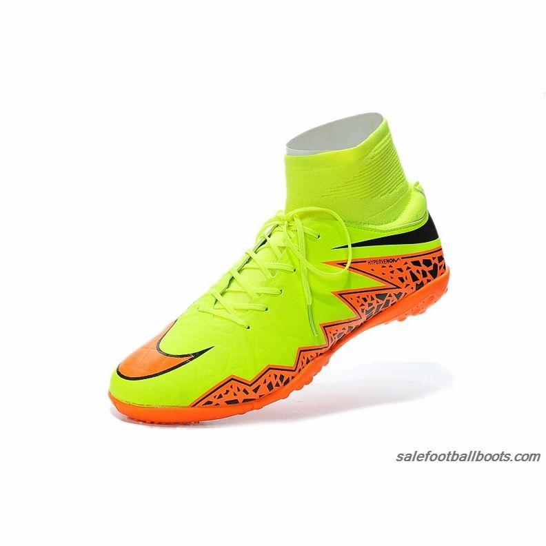 Nike Hypervenom Phelon 2 TF High Fluorescent Green Orange Black  86.99 34e5114b96d0