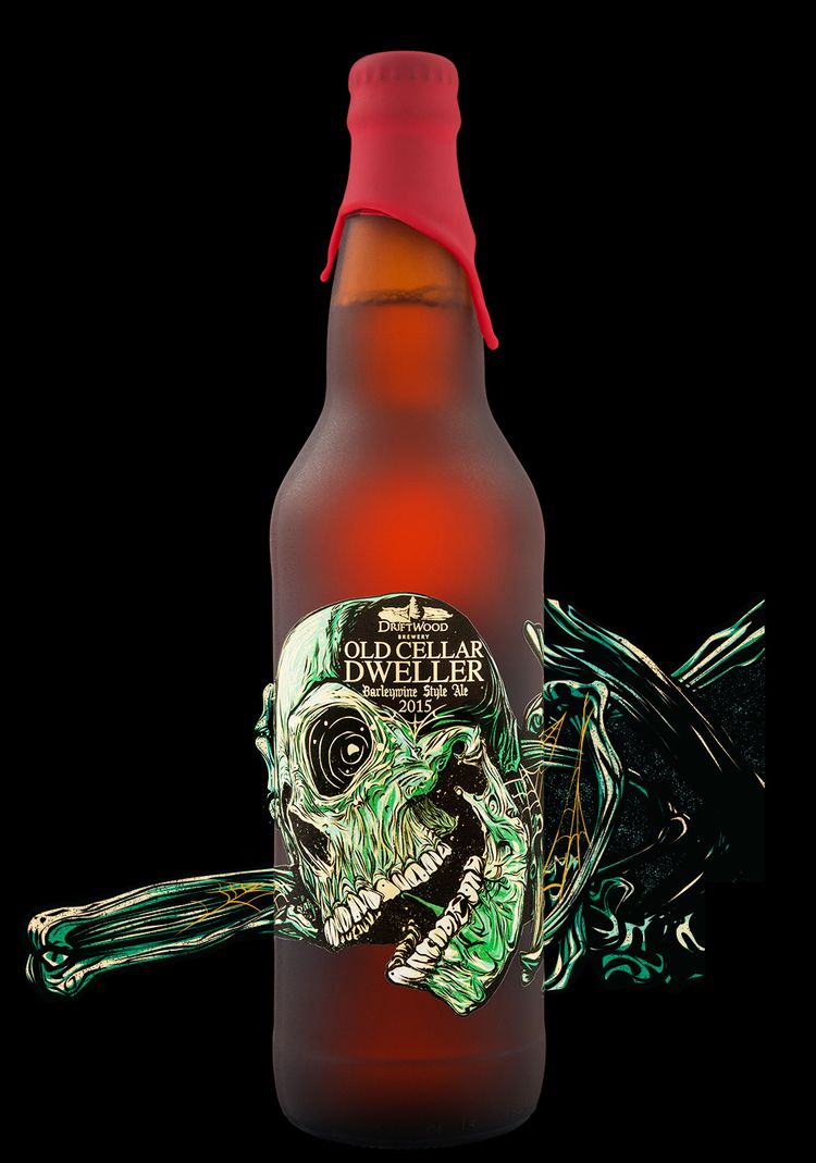 Hired Guns Creative Old Cellar Dweller Barleywine World Brand Design Beer Bottle Design Craft Beer Design Craft Beer Packaging
