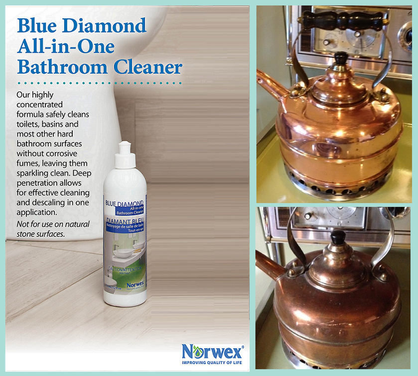Norwex Blue Diamond All In One Bathroom Cleaner We Are Looking For - Most effective bathroom cleaner