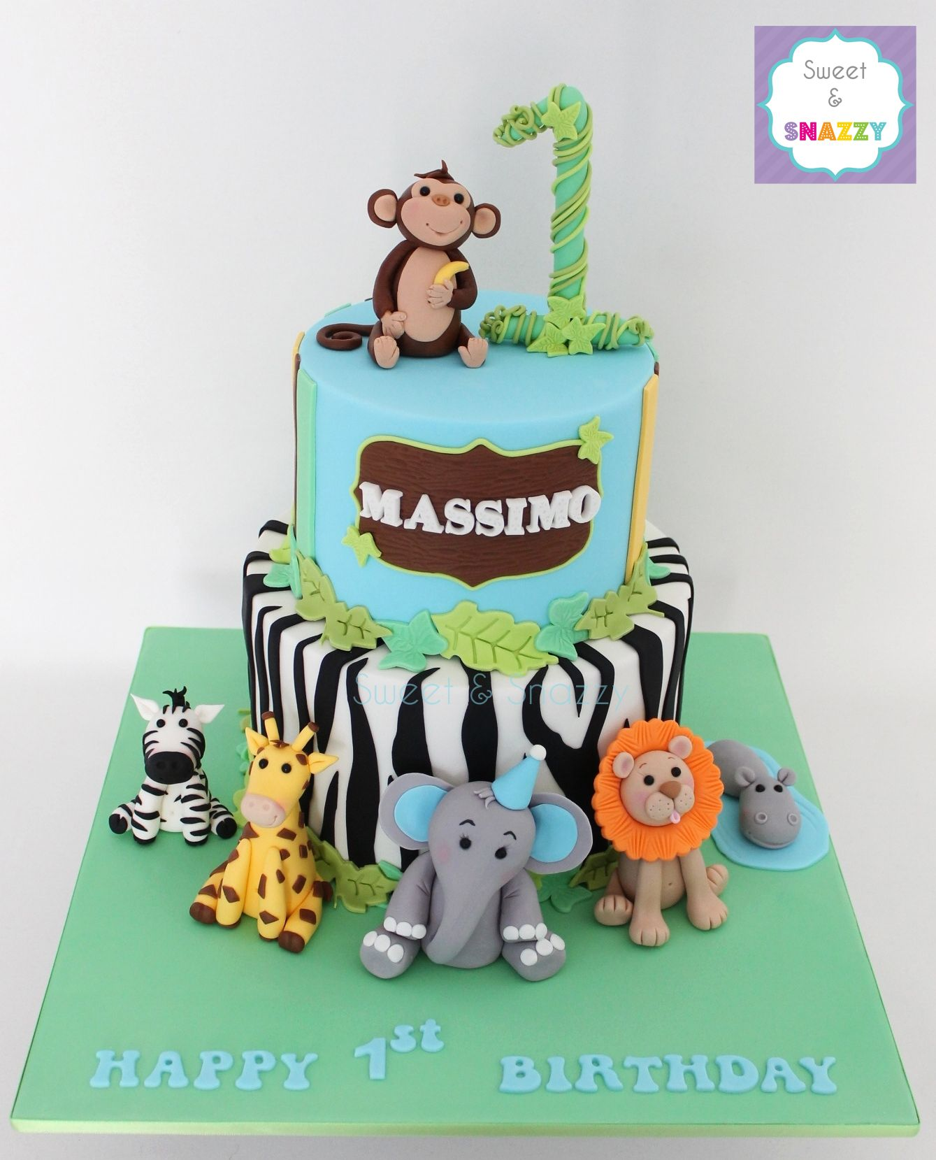Jungle Cake Animal Toppers Fondant Animals Theme By