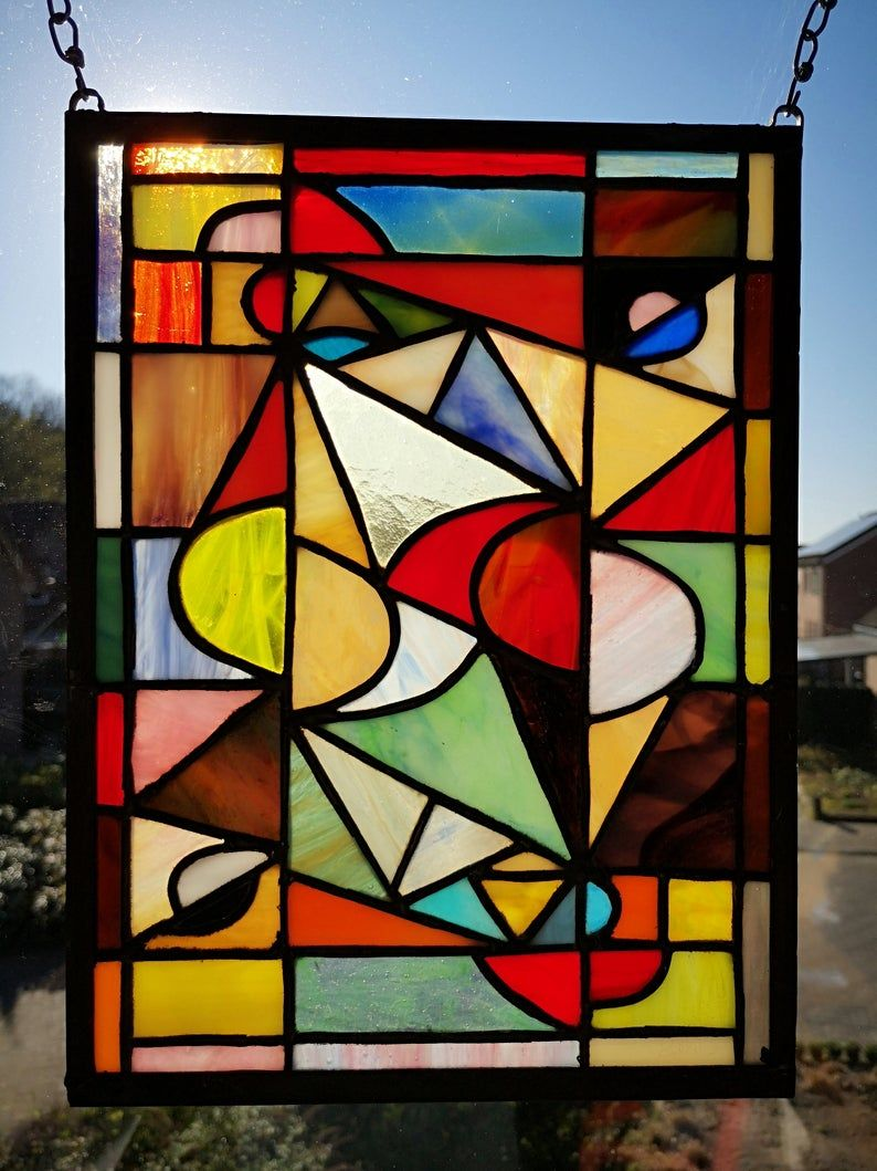 Theo Van Doesburg In Stained Glass Abstract Tiffany In 2020 Abstract Stained Glass Stained Glass Patterns Free