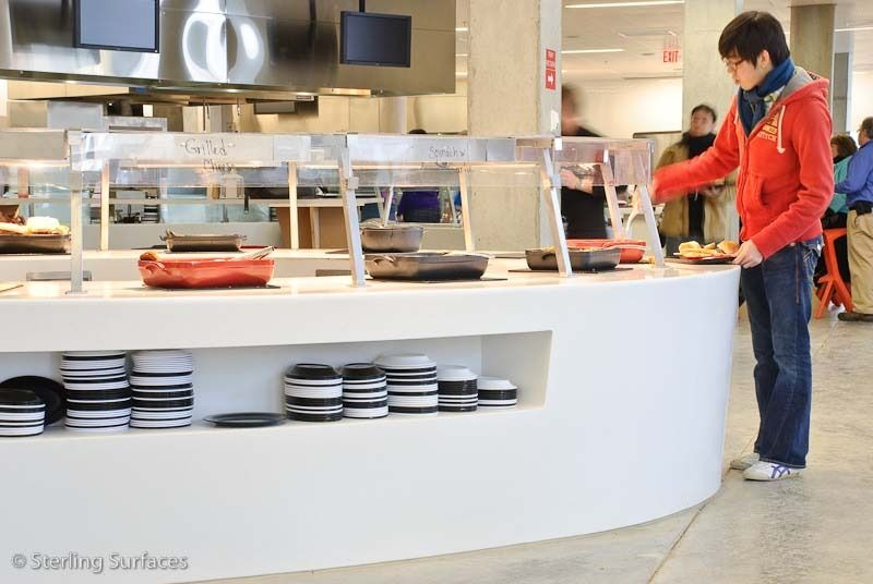 Syracuse University Food Service Counters At The Syracuse University Dining Hall Lg Hi Macs Syracuse N 食堂 計画