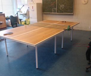 Upcycling Click Laminate To A Tabletennis Table Table Tennis Room Table Ping Pong Table
