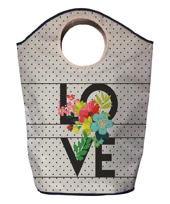 F;owered 'Love' Laundry Hamper