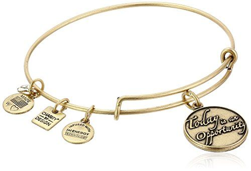 Alex and Ani Charity By Design Today Is An Opportunity Rafaelian Gold Bangle Bracelet >>> Continue to the product at the image link.
