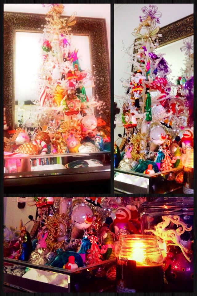 Ivory tabletop tree in mirror tray Holidays Pinterest Mirror tray