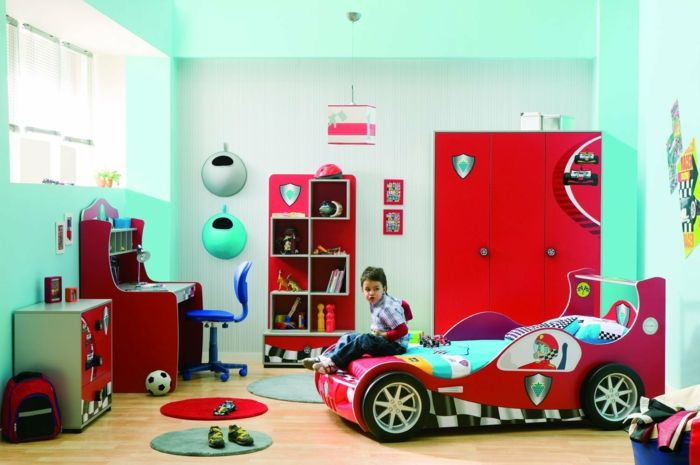 Kinderzimmer junge auto blau  kinderzimmermöbel ideen kinderzimmer junge kinderzimmer ideen ...