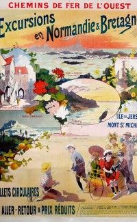 « Excursions en Normandie & Bretagne, Mont St Michel », 1900