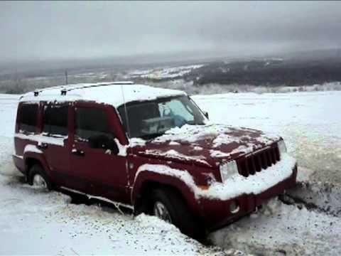 Jeeps Stuck in Snow: Jeep Commander Stuck