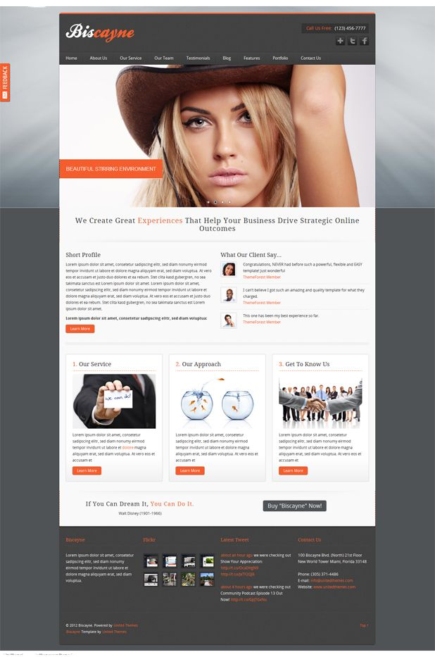 Biscayne modern business html template beautiful free html biscayne modern business html template cheaphphosting Images