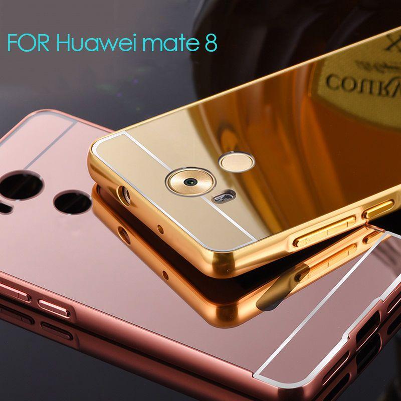 Huawei mate 8 case Metal Aluminum Plating mirror Back Cover ...