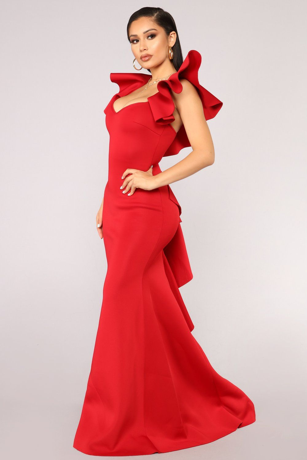 18563e42d Salty Babe Mermaid Dress - Red in 2019 | Red Bridesmaids Dresses ...