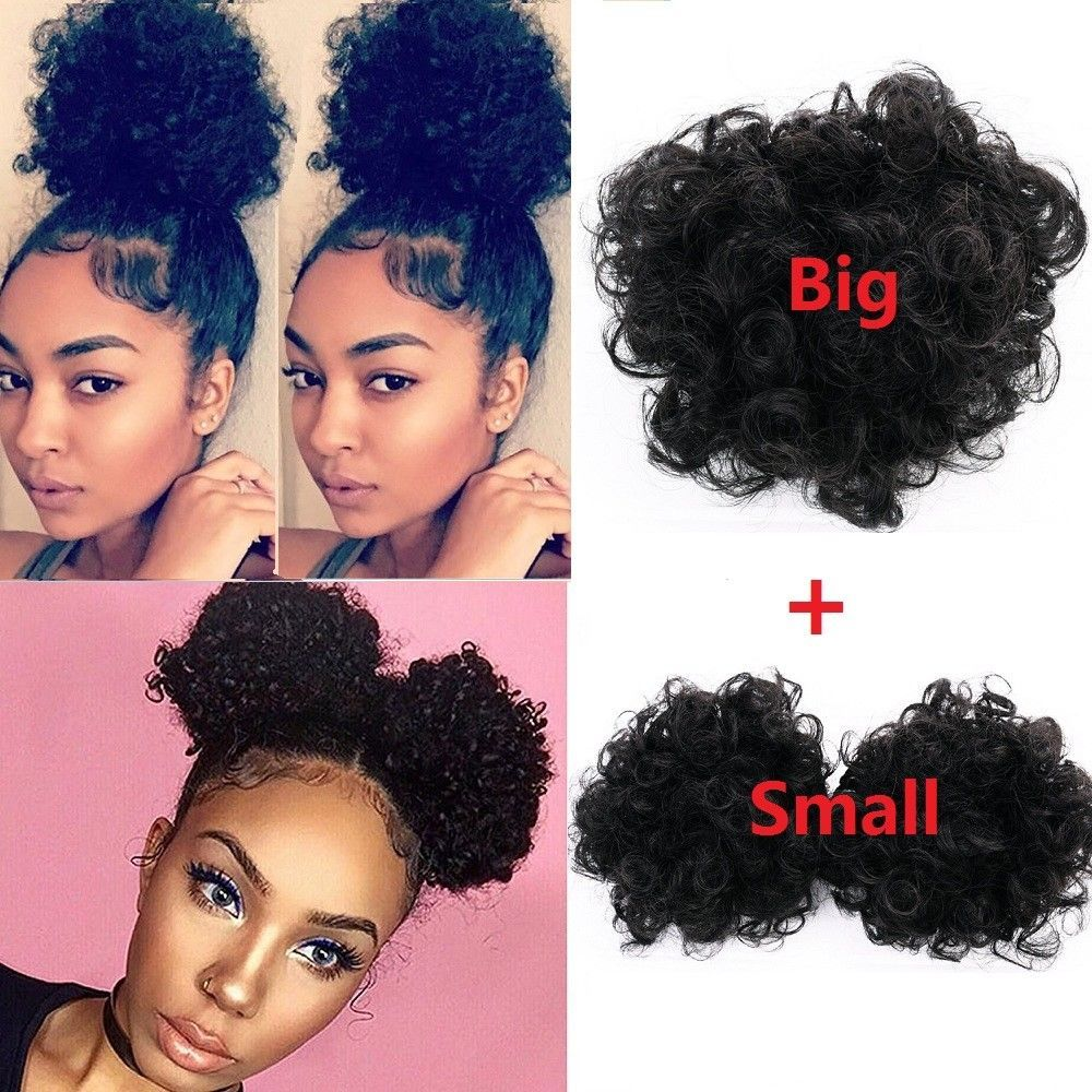 Human Hair Weaves Ponytails Mrs Hair High Puff Afro Curly Wig Ponytail 6 8 Drawstring Short Afro Kinky Pony Tail Clip In Hair Extensions