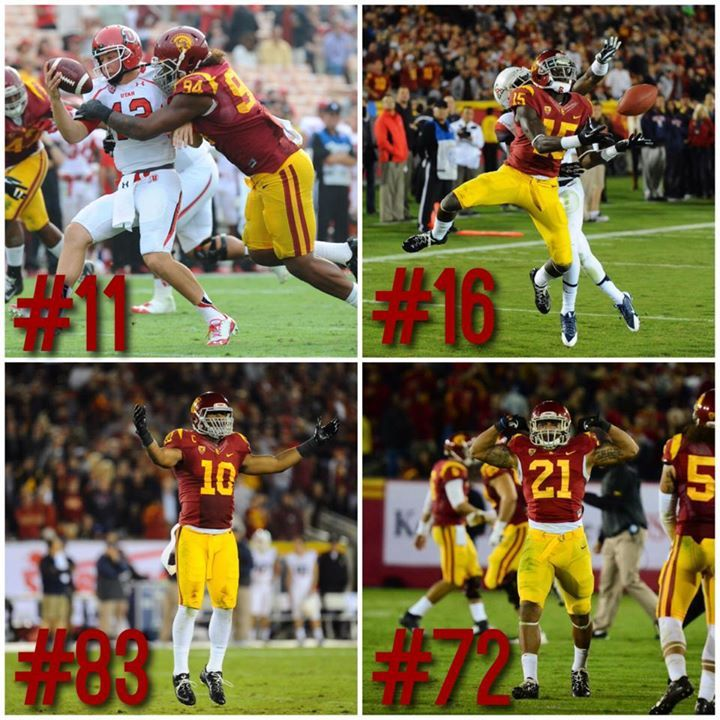 According to espn cfbrank usc has 4 of the nations top