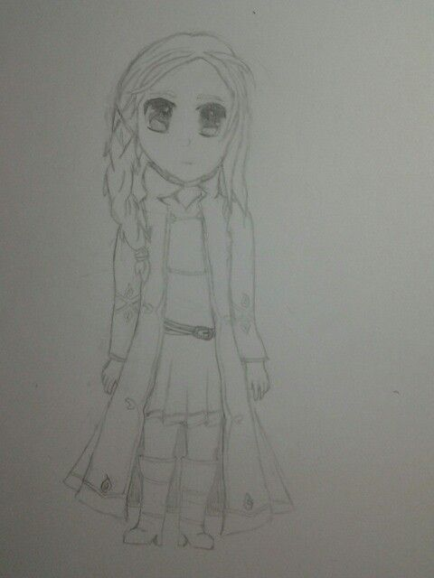 my anime fire girl drawing still haven t shaded it
