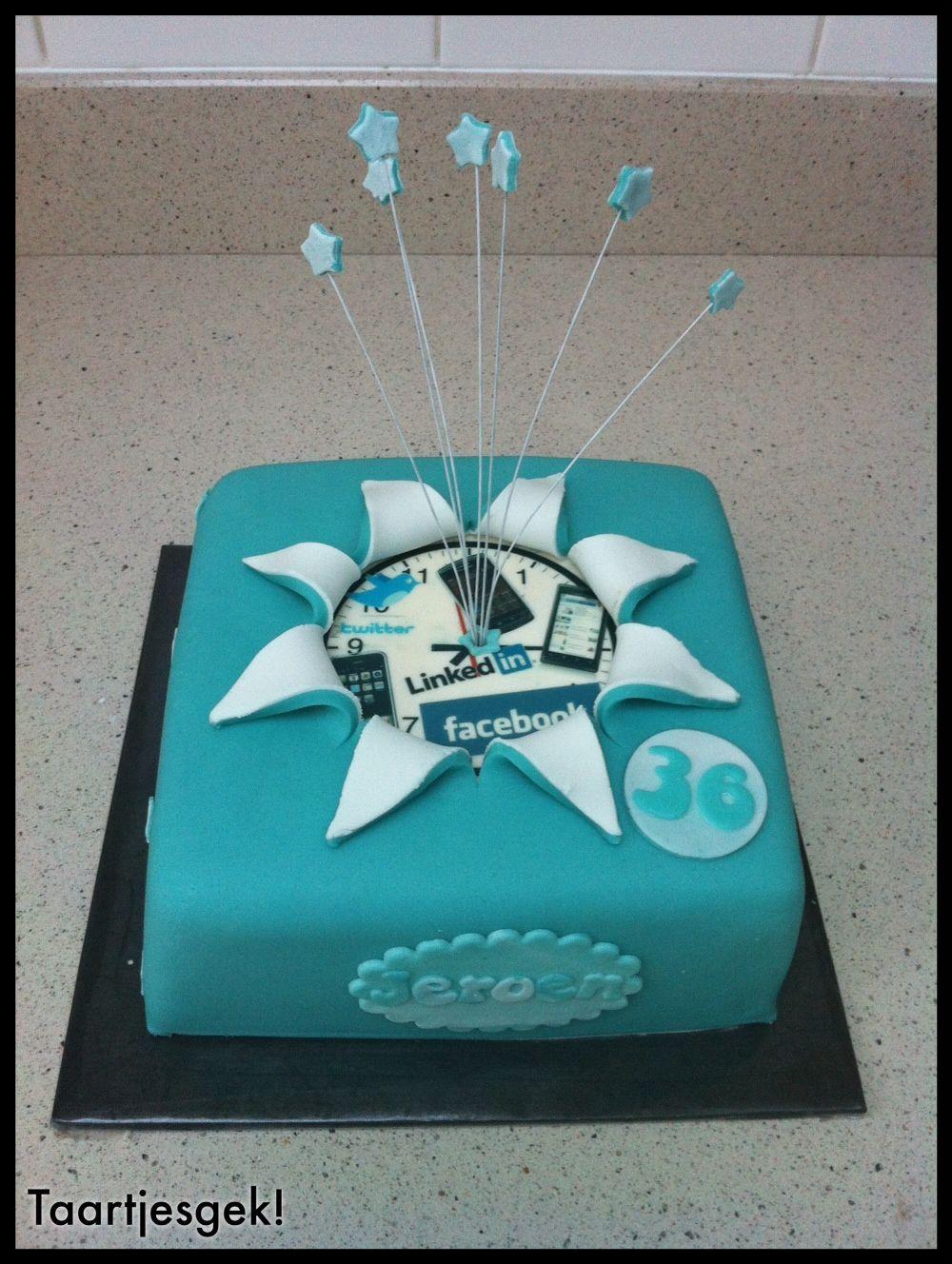 Social Media Cake - This is awesome! #hubze #socialmedia