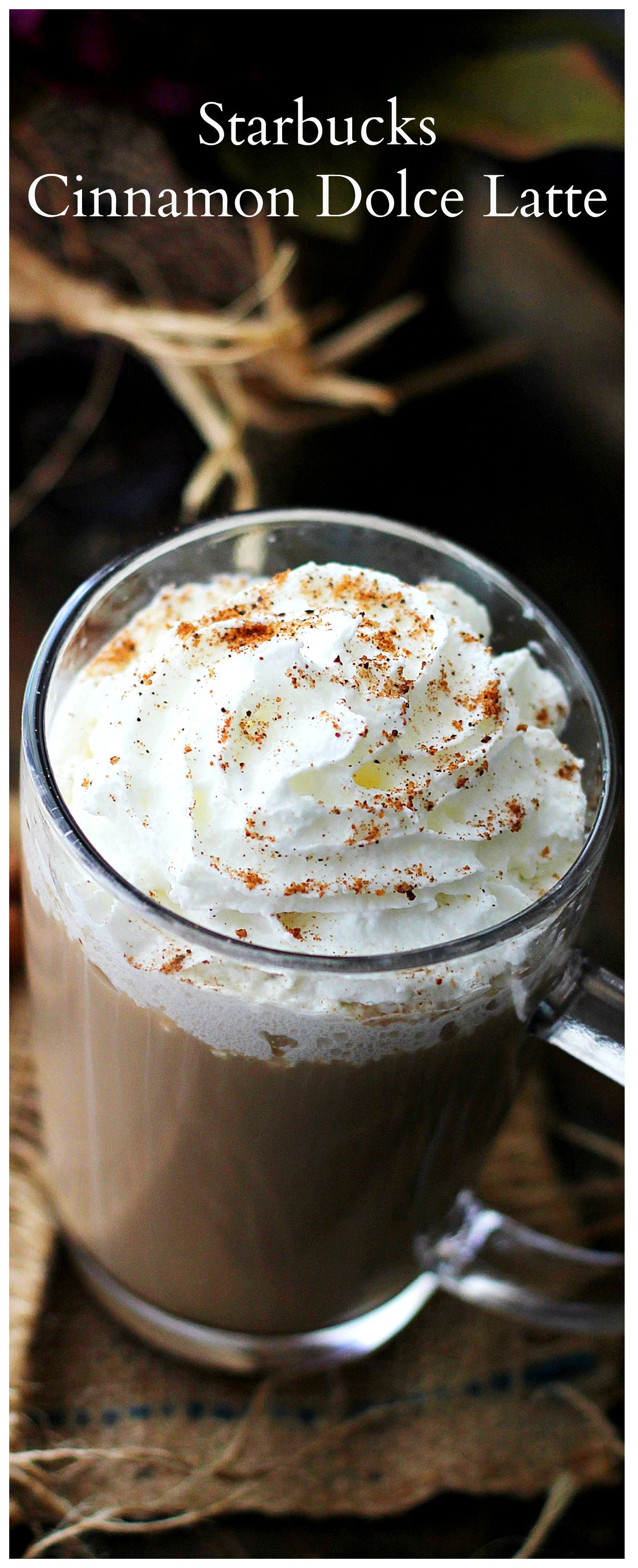 An exact replica of Starbucks deliciously sweet warm and forting Cinnamon Dolce Latte